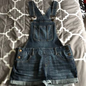 Blue Spice Overall Shorts